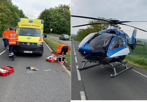 Dívenku na Mladoboleslavsku srazilo auto: Letěl pro ni vrtulník