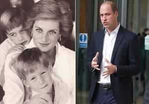 Princ William poprvé otevřeně promluvil o smrti princezny Princezny: Bolest ze ztráty mámy byla jako žádná jiná!