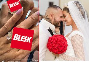 Jasmina Alagič Vrbovská a Rytmus se pochlubili snubními prsteny.