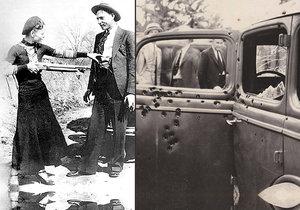 Zamilovaní gangsteři ochotně pózovali před fotoaparátem. Policisté jim nedali žádnou šanci.