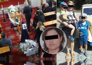 Pohřeb maminky Moniky (†38): Emma (4) a Karol (6) věří, že je maminka jen nemocná.