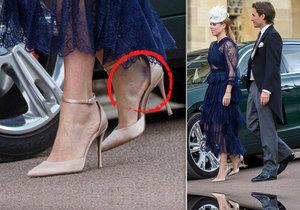 Princezna Beatrice přijela se zraněním na kotníku a modřinami.