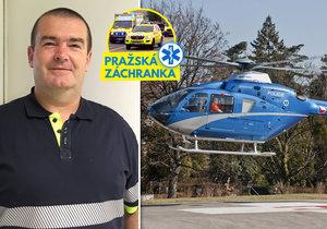 David Doubek létá s leteckou záchrannou službou, loni v prosinci zažil dosud jedinou nehodu vrtulníku.