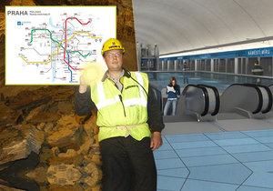 Nové metro D musí vyřešit své financování a pozemky.