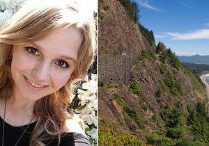 Americká studentka Oregonské státní univerzity Michelle Caseyová (†22) spadla z horské vyhlídky poté, co se jí přítel snažil vyfotit na okraji srázu.