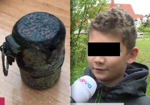 Alex s dětmi našel v Hlinsku funkční granát: Hře se smrtí přihlížela učitelka
