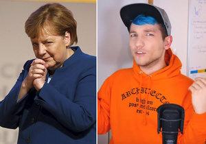 """Německý youtuber Rezo se pustil těsně před volbami ve svém videu do CDU kancléřky Angely Merkelové. """"Ničí náš život a naši zemi"""". Nešetřil političku populární mladík."""