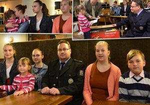 Nadační fond REGI Base pomohl policistovi Markovi Dvořáčkovi, když mu zemřela žena a on zůstal sám s pěti dětmi