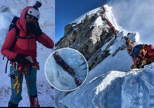 Na Everestu jsou dlouhé fronty.