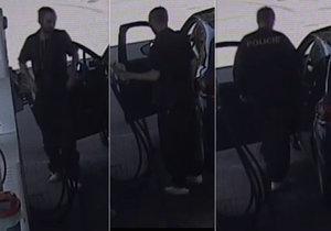 Muž odjíždí od benzinek bez placení: Zřejmě se vydává za policistu