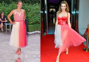 Bára Strýcová a Andrea Verešová oblékly stejné sukně