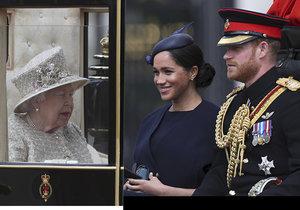 Vévodkyně Meghan na oslavách královny