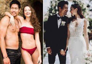 Hollywoodský fešák David Lim si vzal za manželku českou modelku Markétu Kazdovou