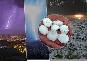 V Česku řádily bouřky i kroupy. Takto zachytil blesky na Teplicku fotograf Milan Stryja.
