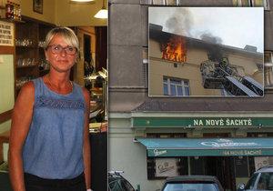 Nezištní hrdinové požáru v Holešovicích: lidé z místní hospody pomáhali hasičům.