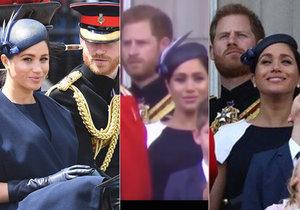 Drsná hádka Meghan a Harryho přímo před královnou?! Jejich tváře mluví za vše