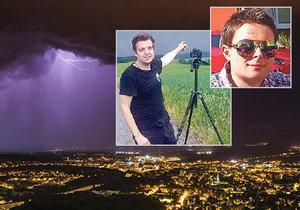 Bouřka na Teplicku, kterou nafotil Milan Stryja. A lovci bouřek Robin Duspara a Miloslav Staněk