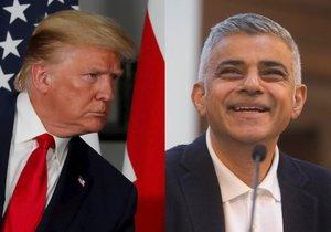 Americký prezident Donald Trump a londýnský starosta Sadiq Khan