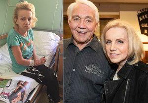 Hana Krampolová v nemocnici