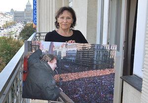 Marta Kubišová v balkonu Melantrichu
