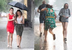 Česko zasáhly přívalové deště