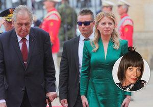 Očima Františky: Smaragdově zelená Zuzaně Čaputové sluší