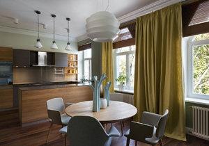 Z historického apartmánu vznikl moderní domov s přírodními prvky