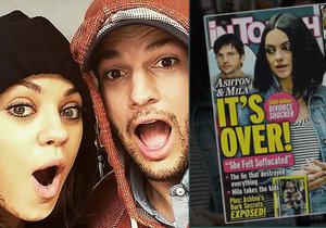 Mila Kunis a Ashton Kutcher se baví článkem o svém rozchodu