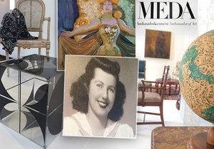Výstava Meda Ambasadorka představuje pozoruhodný průřez do života, činnosti a soukromí mecenášky českého umění Medy Mládkové.