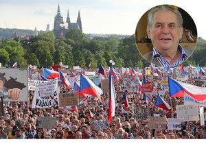 Zeman: Demonstrují proti svobodným volbám. Babiš předčasně neskončí