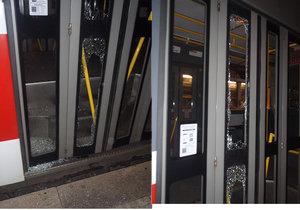 Vandal hodil do jedoucí tramvaje skleněnou lahev.