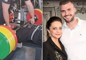Nabušený milenec Lucie Bílé: Zvedl 180 kilo a je v reprezentaci!
