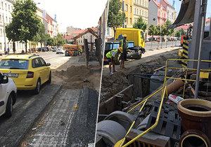 Rekonstrukce Táborské ulice v pražských Nuslích.