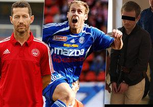 """Roman S. je obžalovaný z megapodvodu, při kterém mu """"sedli na lep"""" i fotbalisté Bronislav Červenka (vlevo) a Michal Hubník."""