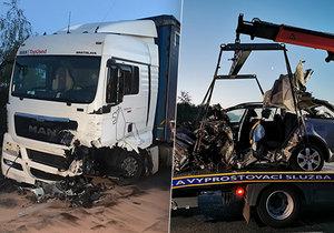 Děsivá bouračka mladého řidiče: Z auta nezůstalo skoro nic!