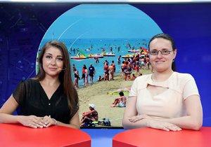 Eva Jurčíková ze společnosti Vašenároky.cz byla hostem pořadu vysílaného 2. 7. 2019. Vpravo moderátorka Andrea Ulagová.