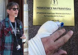 Karambol cestou z hospody! Režisér Jiří Strach si přivodil zranění.