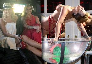 Nejznámější česká burleska Stephanie van der Strumpf v limuzíně Blesku: Neměla jsem ani na chleba!