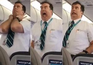 Steward bavil cestující během bezpečnostní ukázky