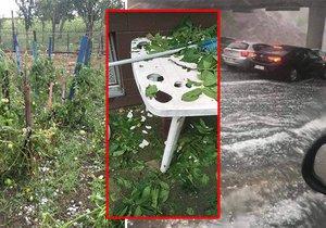 V Chorvatsku udeřily silné bouřky. Stromy a kroupy poškodily auta a budovy, záplavy ničily úrodu zemědělcům