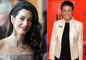 Manželka hollywoodského herce Amal Clooneyová se ujme případu filipínské novinářky Ressaové.
