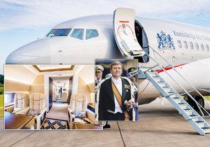 Takhle cestuje monarcha: Snímky z interiéru letounu nizozemského krále.