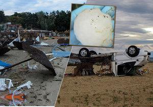 Při bouřích s krupobitím zemřelo ve středu 10. června večer nejméně šest turistů včetně dvou Čechů v Řecku. Kroupy udeřily i v Itálii.