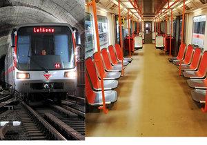 Pražský dopravní podnik testuje nový typ plastových sedaček v metru.