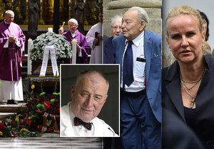 Poslední rozloučení s onkologem Josefem Kouteckým (†88): Mezi čtyřmi stovkami hostů dorazili i Vendula Pizingerová nebo onkolog Pavel Klener (13. 7. 2019)
