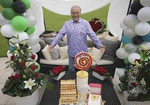 Karel Gott při oslavě 80. narozenin