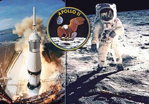 Historický milník: 16. července 1969 odstartoval Orel na vesmírnou misi a první člověk dobyl Měsíc.