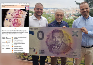 Odporné kšeftování s eurobankovkami vydanými na počest Slavíka: Dej 50 tisíc a Gott bude tvůj!