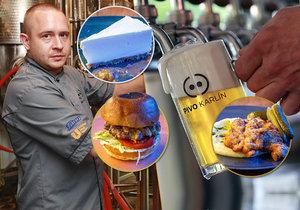 Jiří Dobš je šéfkuchařem restaurace minipivovaru Pivo Karlín. Zlatavý mok využívá do přípravy řady pokrmů - i těch sladkých.