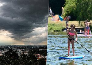 V Česku opět budou tropy, hrozí však bouřky.